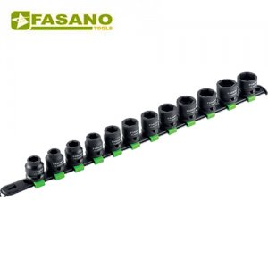 """Σετ καρυδάκια κρούσης 1/2"""" σε ράγα 10-21mm 12 τεμαχίων FG 628/S12 FASANO Tools"""