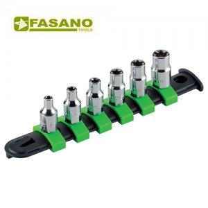 """Σετ καρυδάκια torx 1/4"""" σε ράγα E4-E10 6 τεμαχίων FG 624TX/S6 FASANO Tools Κασετίνες Καρυδάκια"""