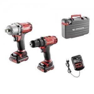 Duo Pack σετ 10,8Volt με δράπανο, μπουλονόκλειδο, 2 μπαταρίες και φορτιστή CL3.CP10SJPB FACOM Εργαλεία Μπαταρίας