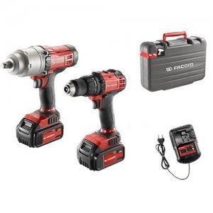Duo Pack σετ 18V με δράπανο, μπουλονόκλειδο, 2 μπαταρίες και φορτιστή CL3.CP18SPB FACOM Εργαλεία Μπαταρίας