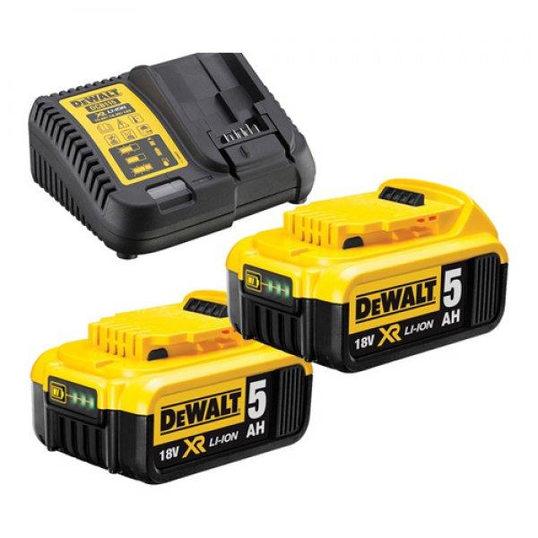 Φορτιστής XR & 2 μπαταρίες 5.0Ah DEWALT DCB115P2