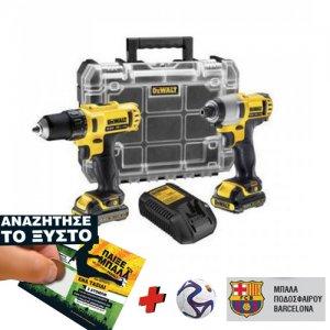 Σετ δραπανοκατσάβιδο (DCD710) & κατσαβιδιέρα παλμική (DCF815) XR λιθίου 10,8V DCK211D2TBL DEWALT Εργαλεία Μπαταρίας