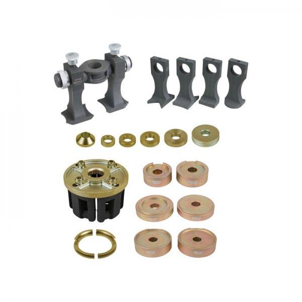 Εργαλεία γενικής χρήσης για τη βιδωτή και συμπαγή τοποθέτηση και αφαίρεση εδράνων τροχών, 33 τεμαχίων 440.0650 KS TOOLS