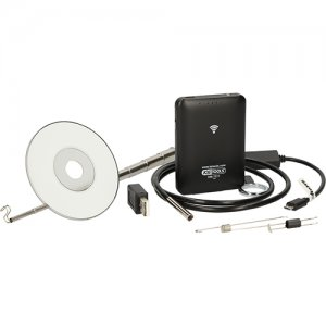 Σετ βιντεοσκόπιο Wi-Fi με αισθητήρα μπροστινής κάμερας Ø 5,5 mm 60° , με δυνατότητα εναλλαγής, 8 τεμαχίων 550.7510 KS TOOLS