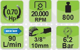 FGA 343/N10 FASANO Tools  Τριβείο με ιμάντα αέρος 10x330mm